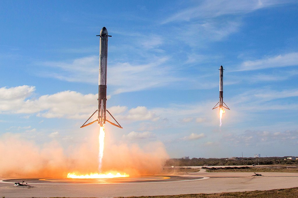 Space X Launches Falcon Heavy with an Interesting Payload